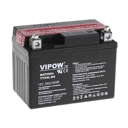 Batéria motocyklová 12V 3Ah VIPOW