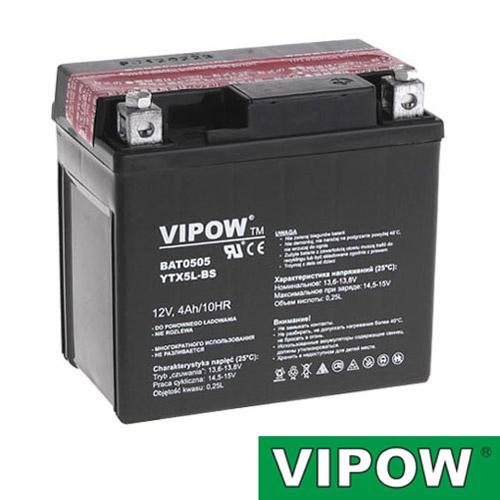 Baterie motocyklová 12V 4Ah Vipow motobaterie