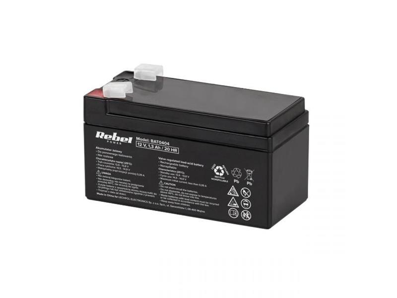 Baterie olověná 12V/ 1.3Ah REBEL