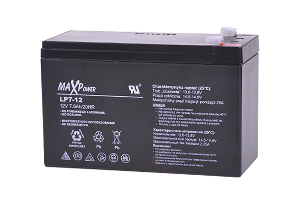 Baterie olověná 12V/ 7.5Ah REBEL