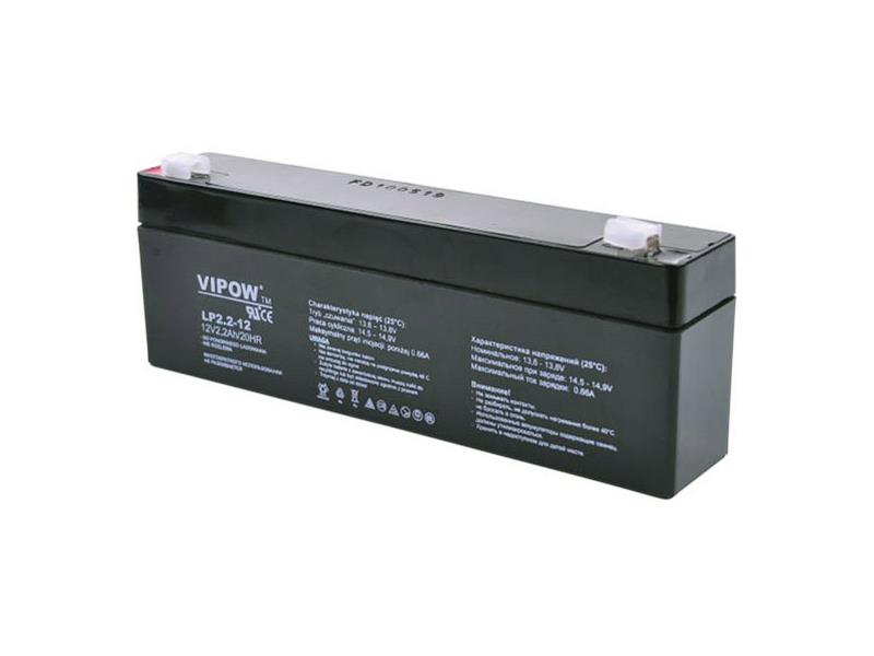 Baterie olověná 12V/ 2.2Ah VIPOW bezúdržbový akumulátor