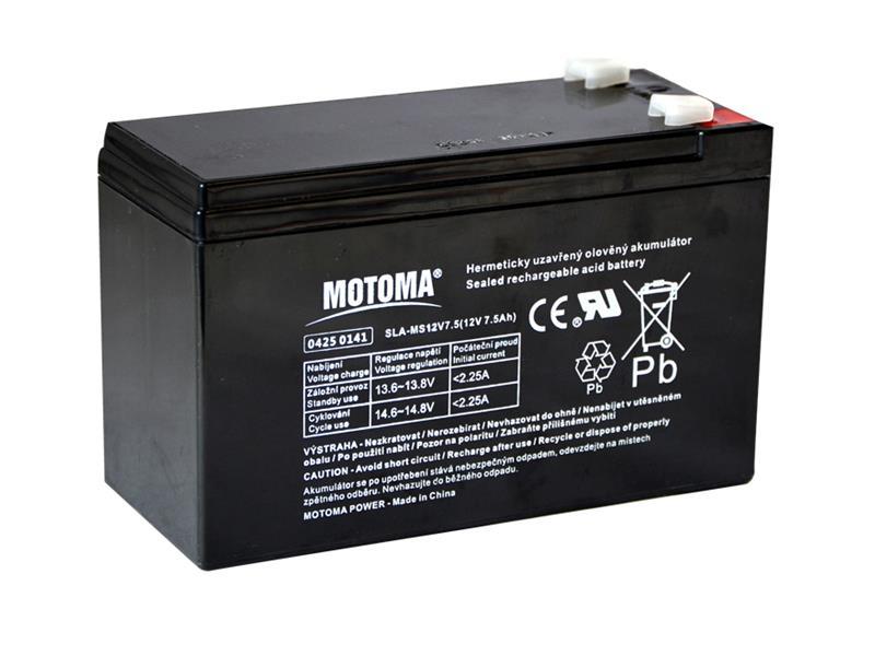 Batéria olovená 12V 7,5Ah MOTOMA (konektor 6,35 mm)