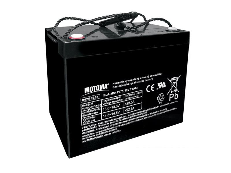 Baterie olověná 12V 75Ah MOTOMA