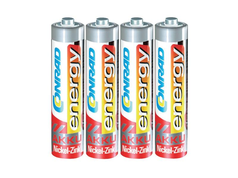 Baterie AAA (R03) nabíjecí CONRAD NiZn 550mAh, 1,6V (blistr 4ks)