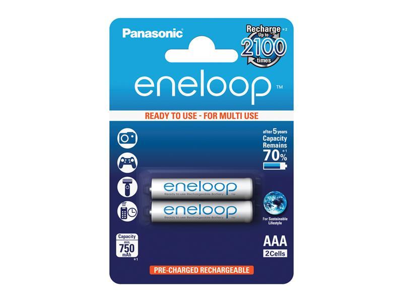 Batéria AAA (R03) nabíjacia 1,2V/750mAh Eneloop PANASONIC 2ks