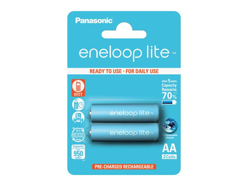 Batéria AA (R6) nabíjacia 1,2V/950mAh Eneloop PANASONIC LITE 2ks
