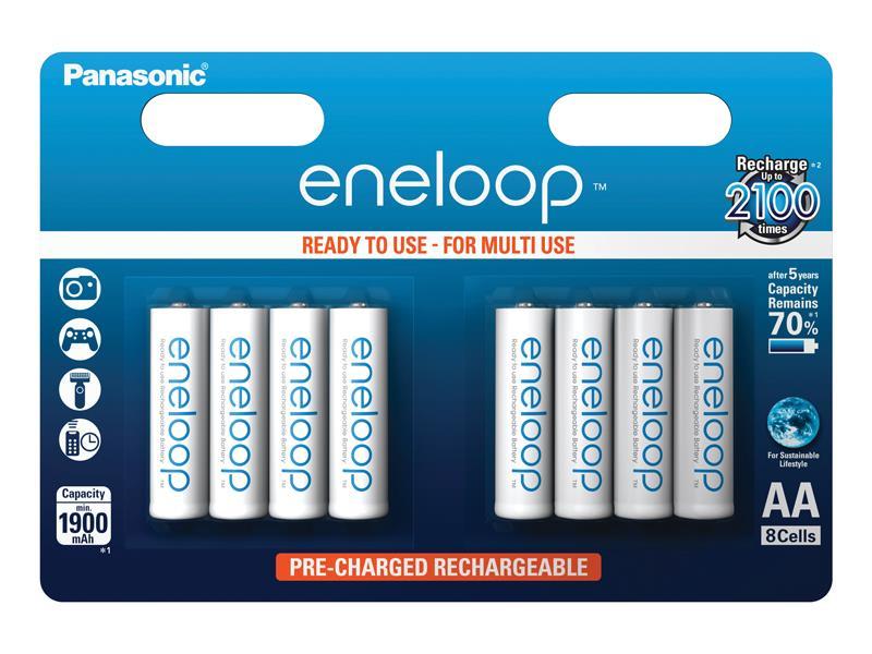 Batéria AA (R6) nabíjacia 1.2V/1900mAh Eneloop PANASONIC 8ks