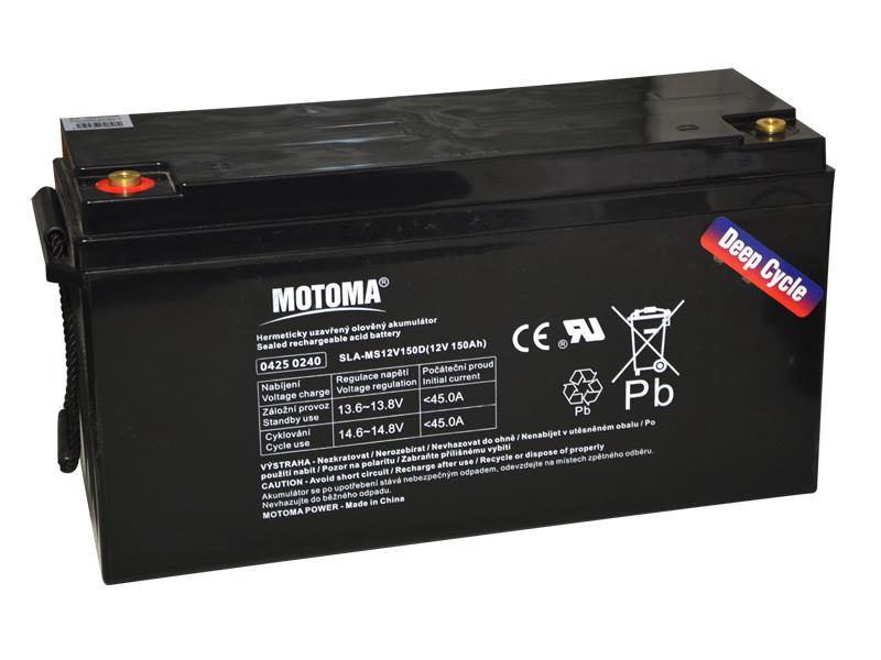 Batéria olovená 12V 150Ah MOTOMA pre soláry - Nadrozmerný tovar, nutné dohovoriť telefonicky dopravu