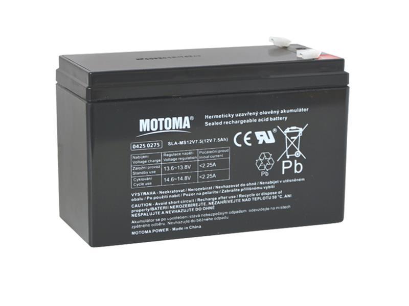 Batéria olovená 12V 7,5Ah MOTOMA (konektor 4,75 mm)