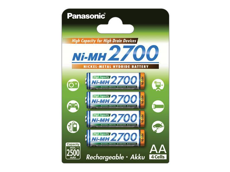 Batéria AA (R6) nabíjacia 1,2V/2700mAh PANASONIC NiMH 4ks