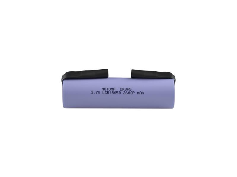 Batéria nabíjacia Li-Ion 18650 3,7V/2600mAh 5C MOTOMA s pásikovými vývodmi