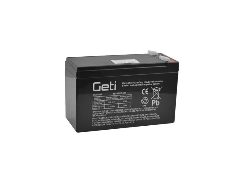 Batérie olovená 12V 7.5Ah Geti bezúdržbový akumulátor