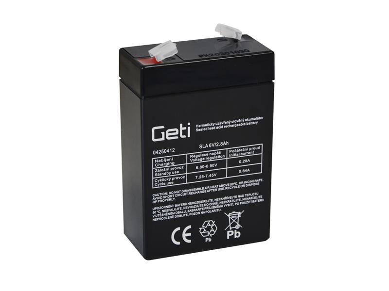 Batérie olovená 6V 2.8Ah Geti