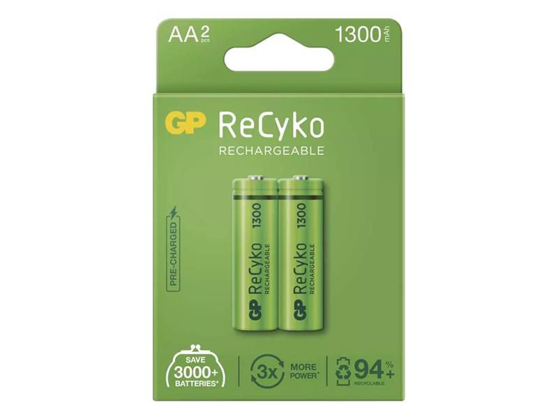 Batérie AA (R6) nabíjacie 1,2V/1300mAh GP Recyko 2ks