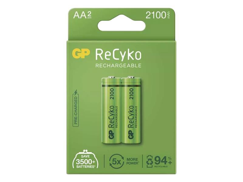Batérie AA (R6) nabíjacie 1,2V/2100mAh GP Recyko 2ks