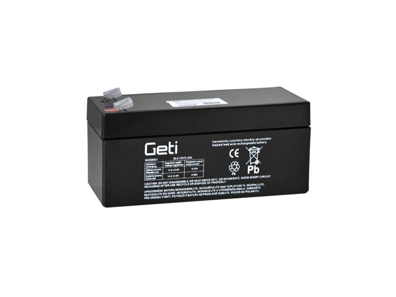 Batérie olovená 12V 3.3Ah Geti