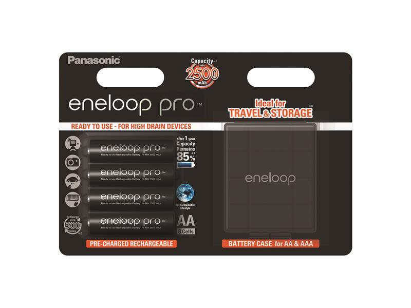 Batérie AA (R6) nabíjacie 1.2V/2500mAh Eneloop PANASONIC PRO 4ks + box