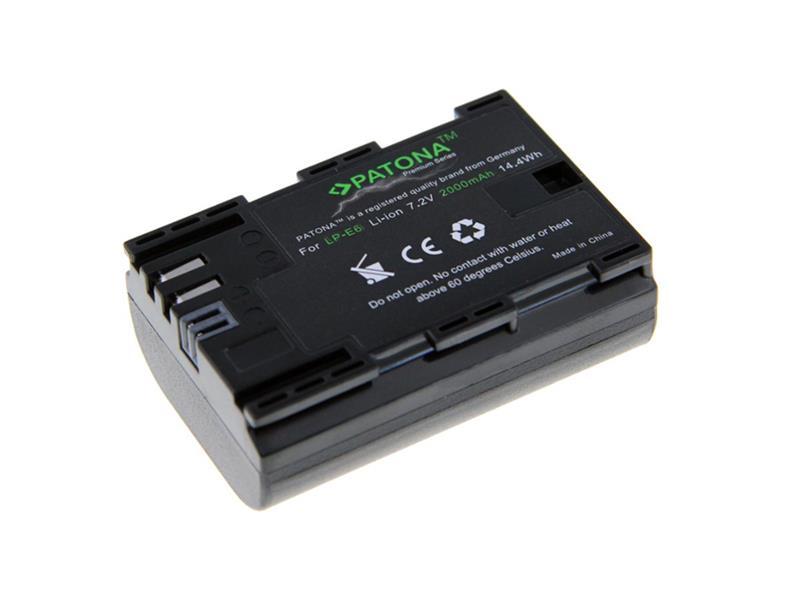 Batéria foto CANON LP-E6 2000mAh premium PATONA PT1212