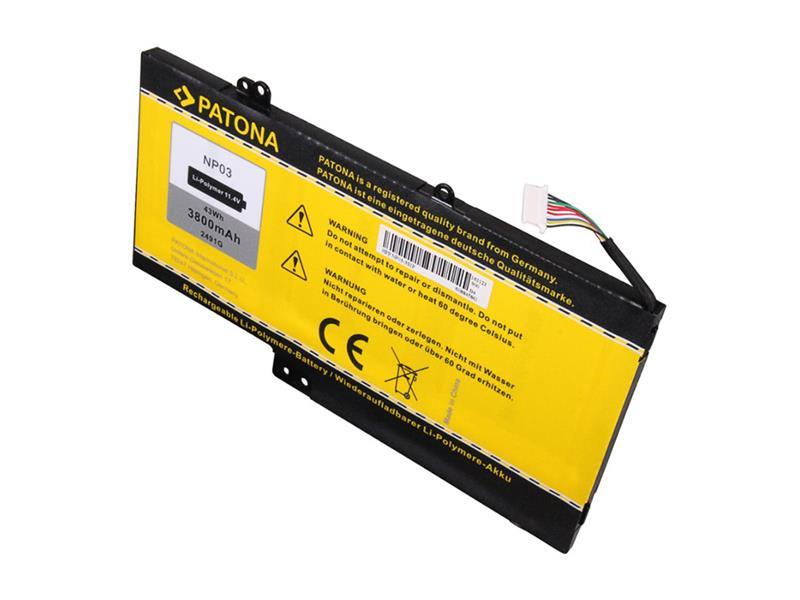 Batéria HP Pavilion 13/15 3800mAh Li-Pol 11.4V NP03XL PATONA PT2491