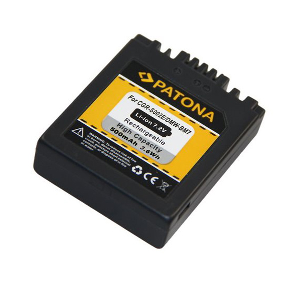 Batérie PANASONIC LUMIX BM7 500 mAh PATONA PT1027