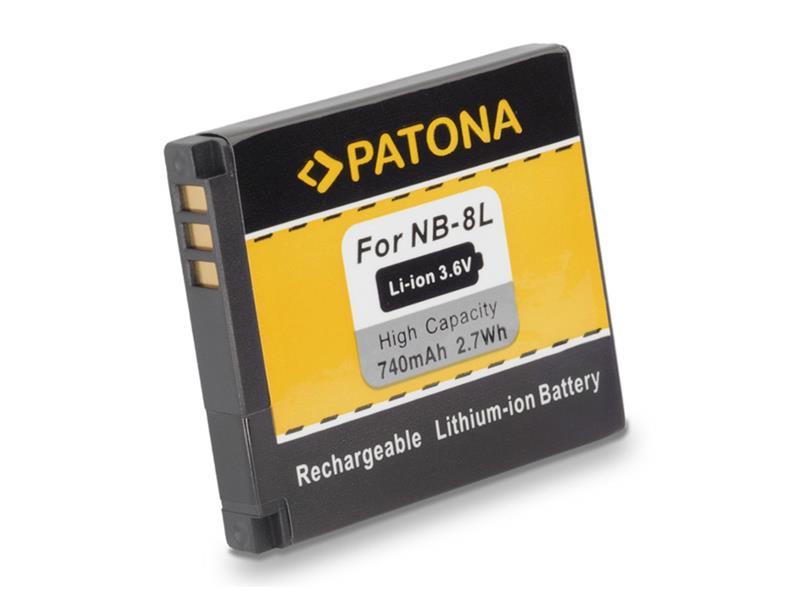 Batérie foto CANON NB-8L 740mAh PATONA PT1113
