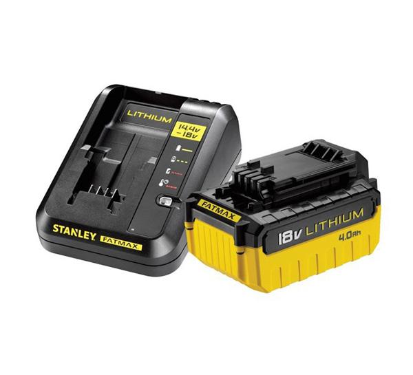 Sada AKU nabíjačka / batérie 4000mAh 18V STANLEY FATMAX FMC694M1
