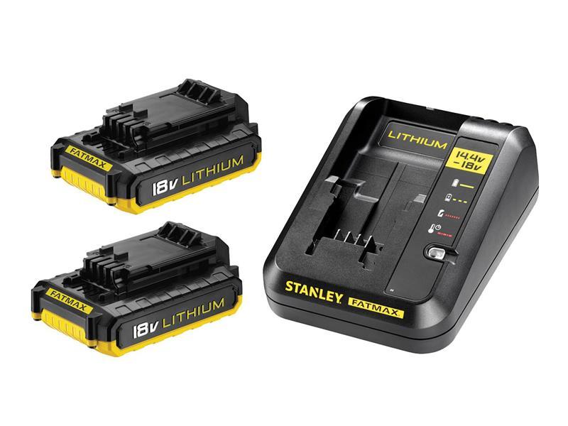 Sada AKU nabíjačka / 2x batéria 2000mAh 18V STANLEY FATMAX FMC693D2