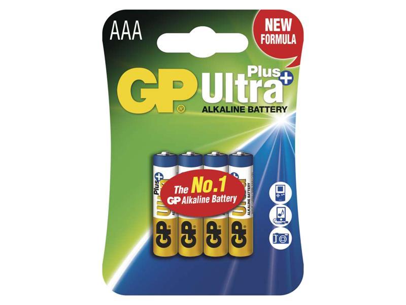 Batéria AAA (R03) alkalická GP Ultra Plus Alkaline 4ks