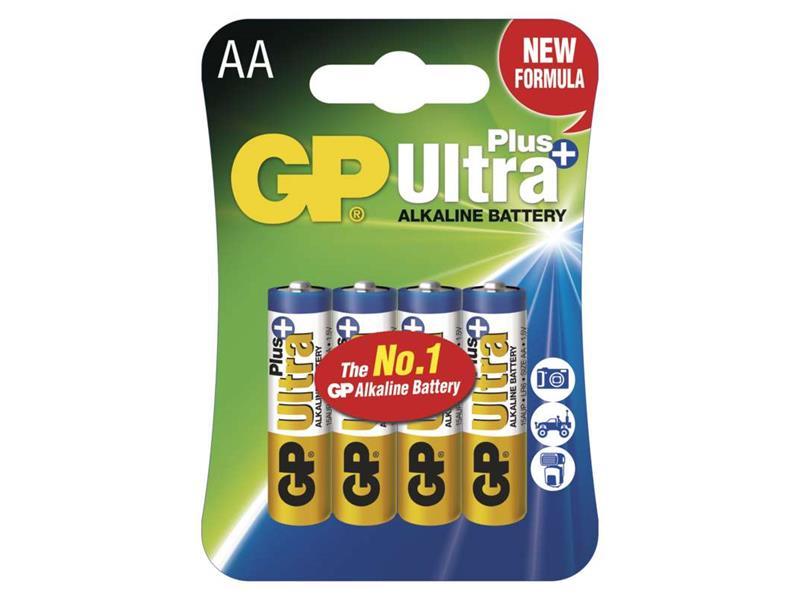 Batéria AA (R6) alkalická GP Ultra Plus Alkaline 4 ks