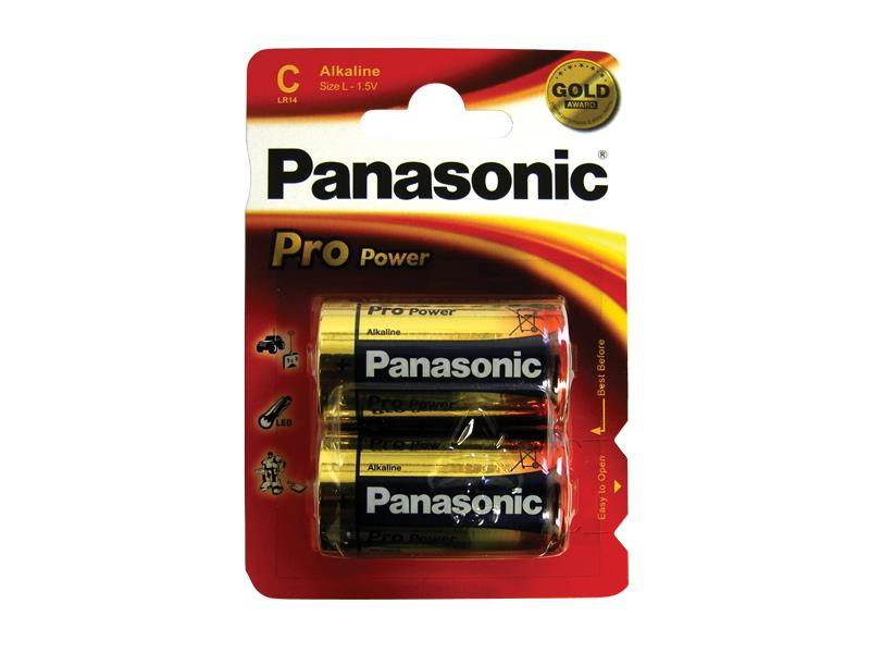 Batéria C (R14) alkalická PANASONIC Pro Power LR14 (blistr 2ks)