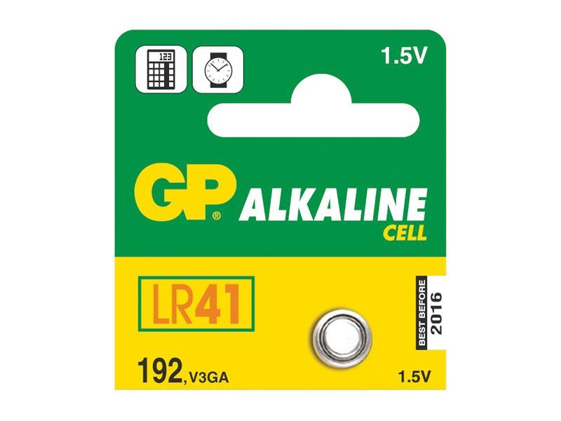 Bateria LR41 (192) GP alkalická