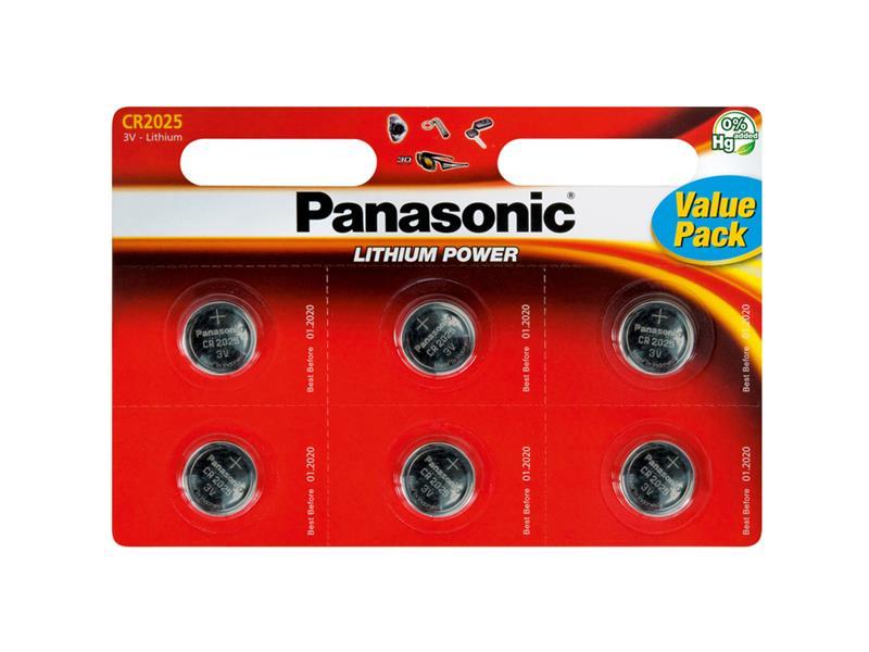 Baterie CR2025 PANASONIC lithiová 6BP