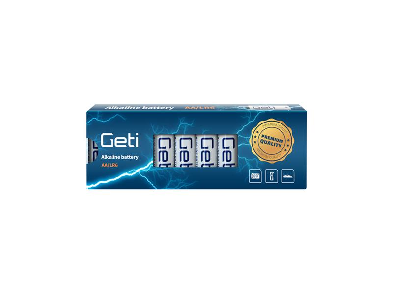 Batérie AA (LR6) alkalická Geti 1,5V (10 kusov)