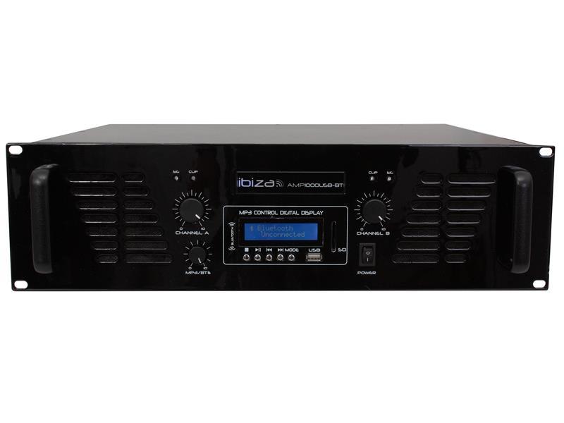 Zosilňovač IBIZA AMP1000USB-BT