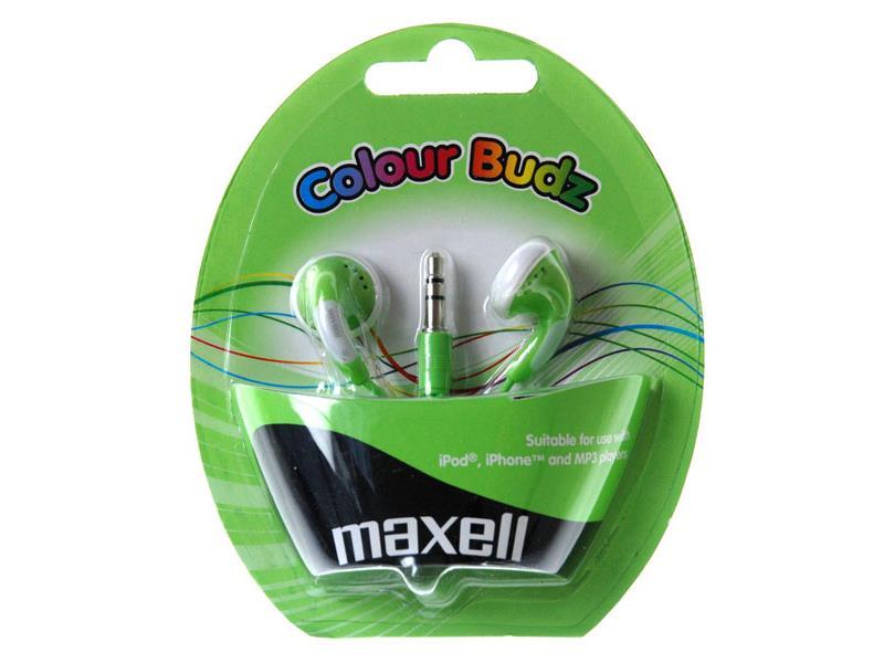Slúchadlá Maxell 303361 Colour Budz Green