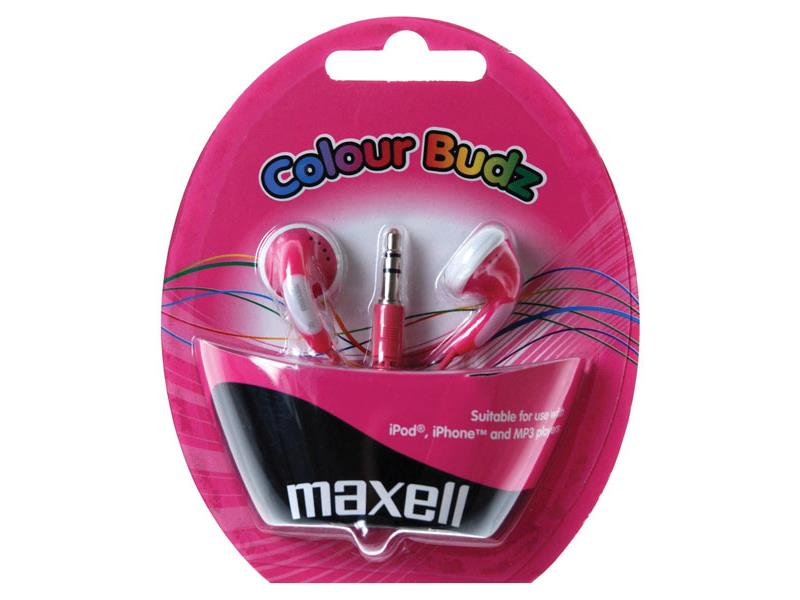 Slúchadlá Maxell 303358 Colour Budz Pink