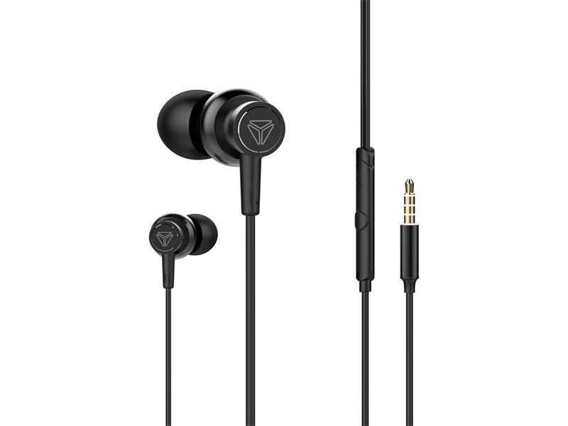 Sluchátka do uší s mikrofonem YENKEE YHP 205BK