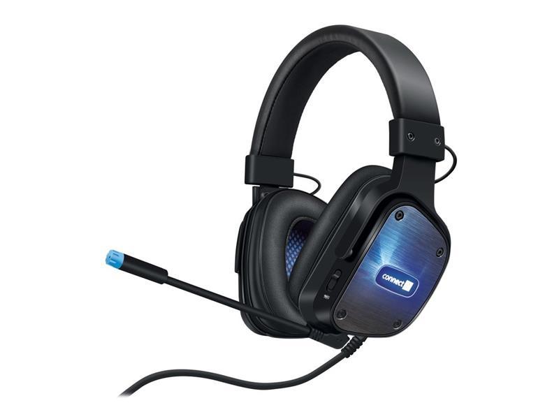 Sluchátka herní USB s odnímatelným mikrofonem CONNECT IT EVOGEAR CHP-4500-BK