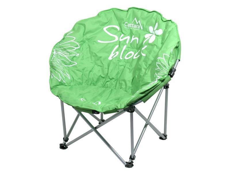 Židle kempingová skládací CATTARA FLOWERS zelená