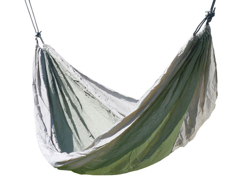 Síť houpací CATTARA NYLON 275x137cm zeleno-hnědá