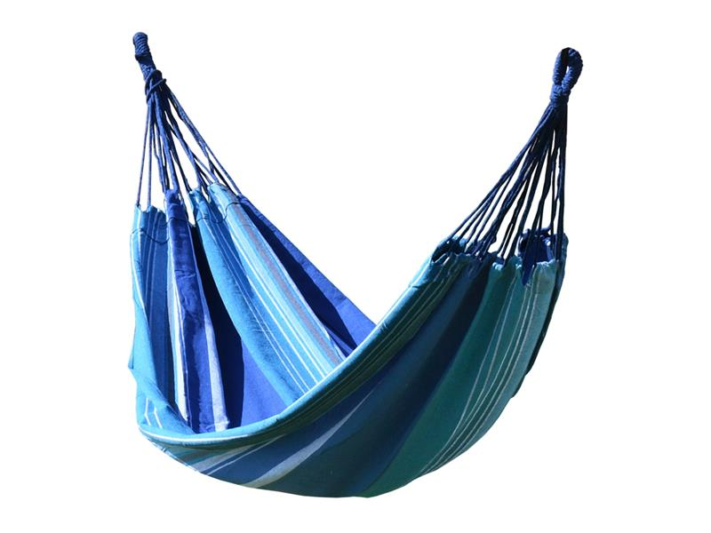 Síť houpací CATTARA TEXTIL 200x100cm modro-bílá