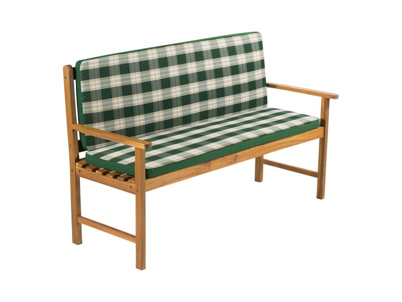 Poťah na 2 miestnu lavicu - pruhovaný zelený FIELDMANN FDZN 9120