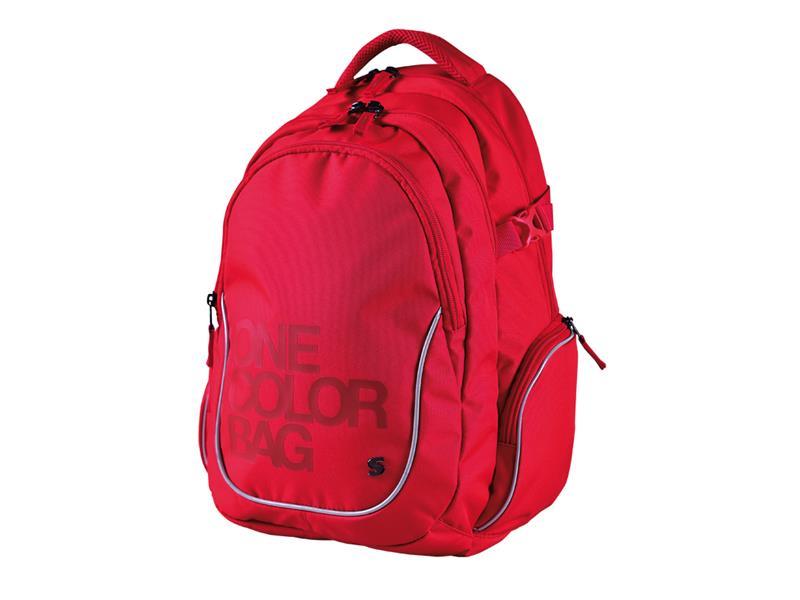 Batoh studentský Stil One Colour červenýý