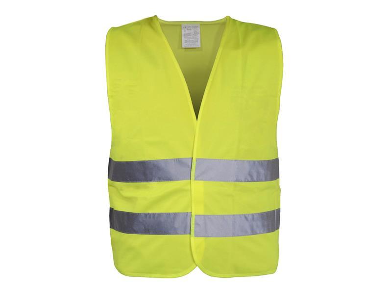 Reflexná výstražná vesta žltá EN 20471:2013 COMPASS 01510