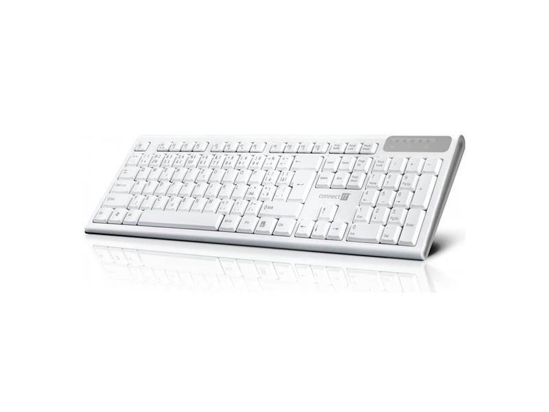 Klávesnice CONNECT IT Multimediální bezdrátová, CZ + SK verze, bílá CKB-3010-CS