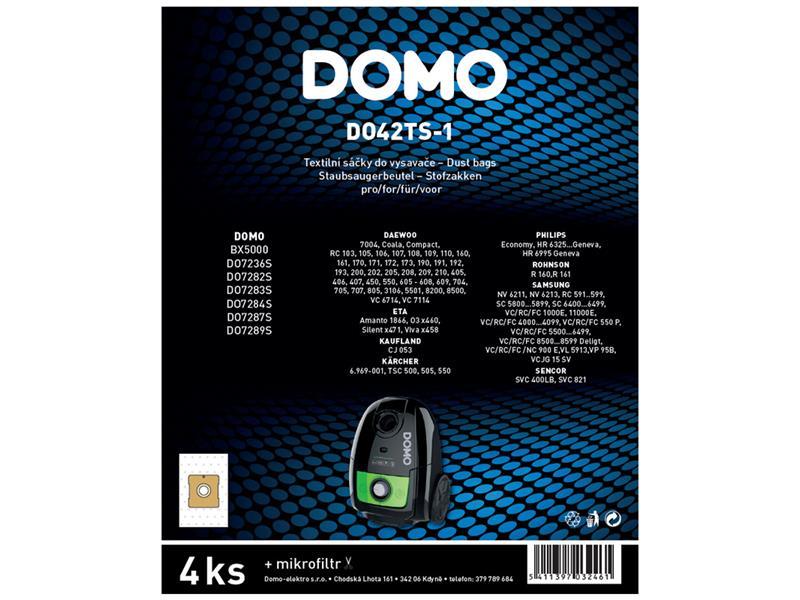 Sáčky do vysavače DOMO DO42TS-1 4ks