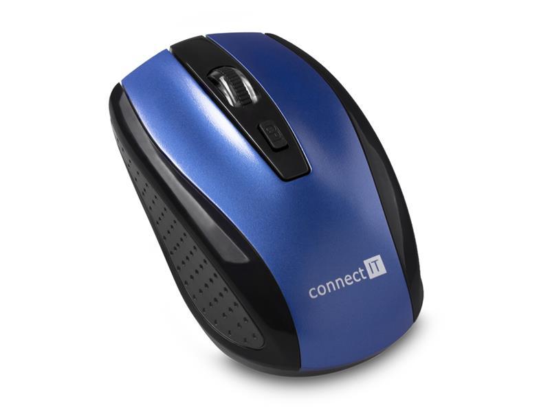 Myš bezdrátová Connect IT CI-1225 (+ 2x AAA baterie zdarma), modrá