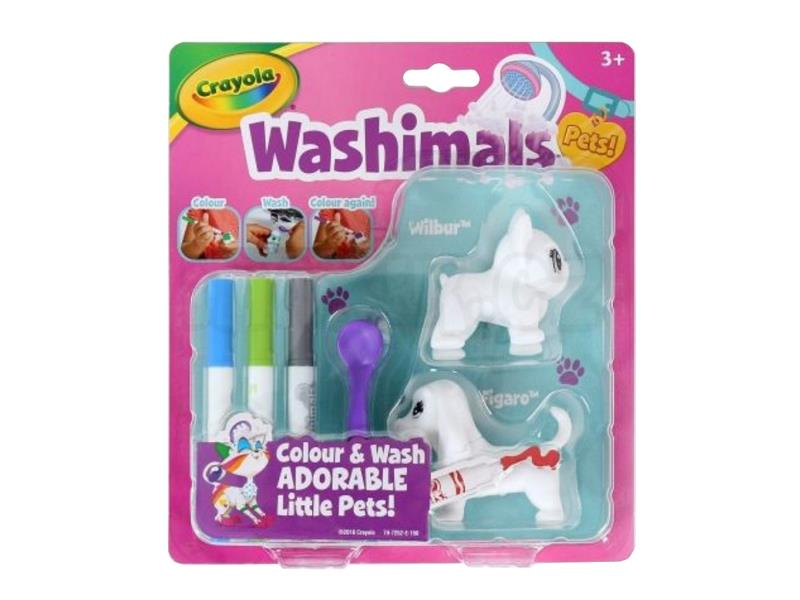 Zvieratká Crayola Washimals - mini sada 1- psi