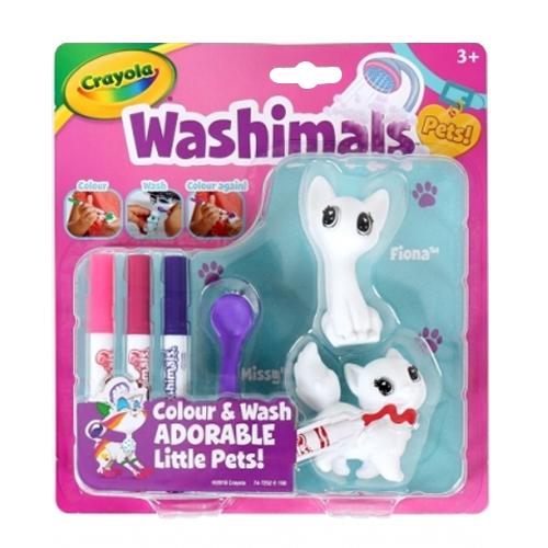Zvieratká Crayola Washimals - mini sada 2- mačky
