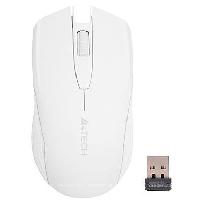 Myš A4Tech G3-760N V-track, 2.4GHz, 10m dosah, USB, biela